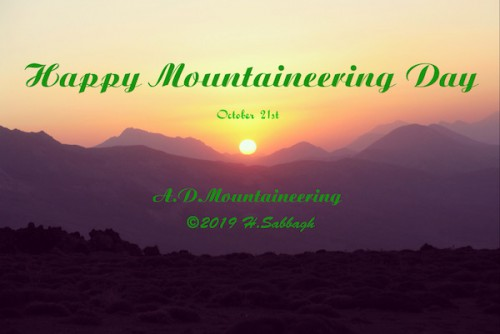 Happy Mountaineering Day